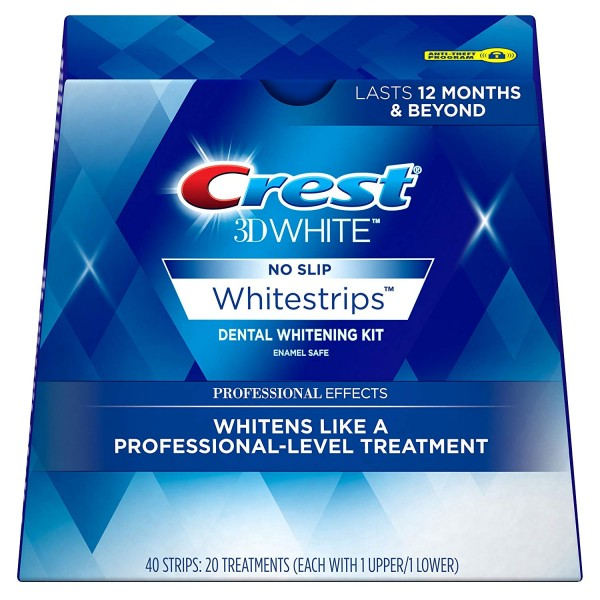 Crest 3D White Professional Effects Whitestrips Teeth Whitening Strips Kit, (20 Treatment/40 Strips)1