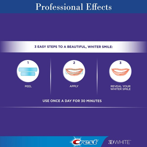 Crest 3D White Professional Effects Whitestrips Teeth Whitening Strips Kit, (20 Treatment/40 Strips)3