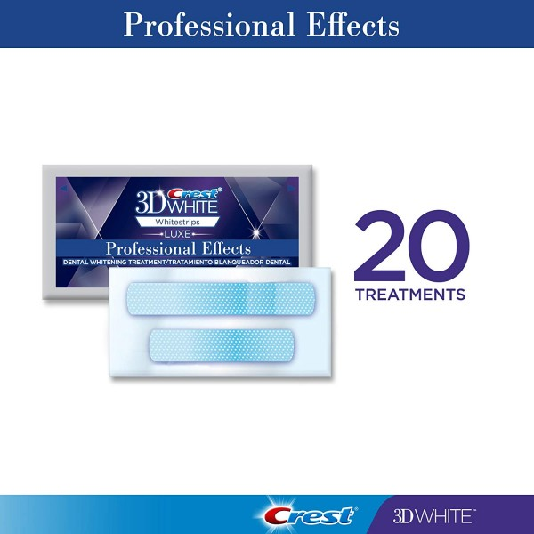 Crest 3D White Professional Effects Whitestrips Teeth Whitening Strips Kit, (20 Treatment/40 Strips)4