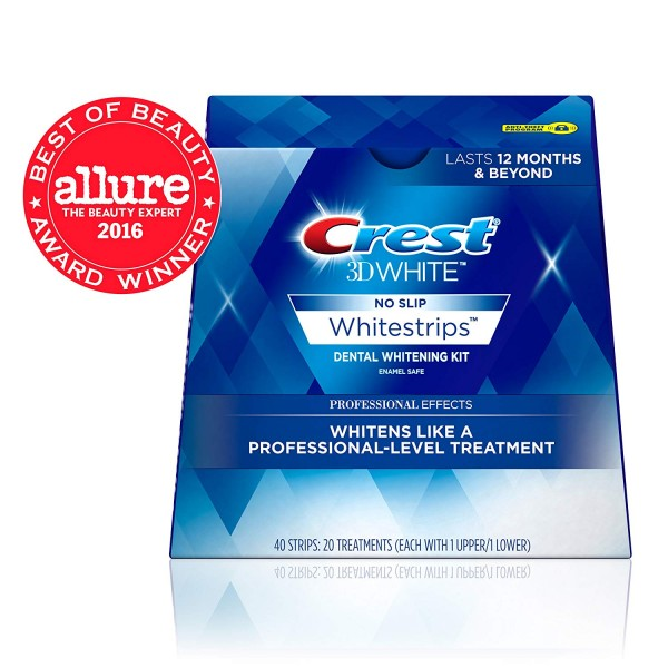 Crest 3D White Professional Effects Whitestrips Teeth Whitening Strips Kit, (20 Treatment/40 Strips)5