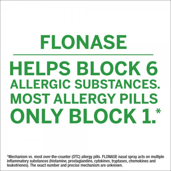 Flonase 24hr Allergy Relief Nasal Spray, Full Prescription Strength, 288 Sprays (Twinpack of 144 Sprays)4