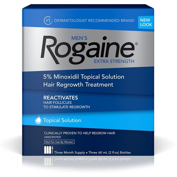 ROGAINE MENS EXTRA STRENGTH SOLUTION 2 Oz. (Pack of 3)1