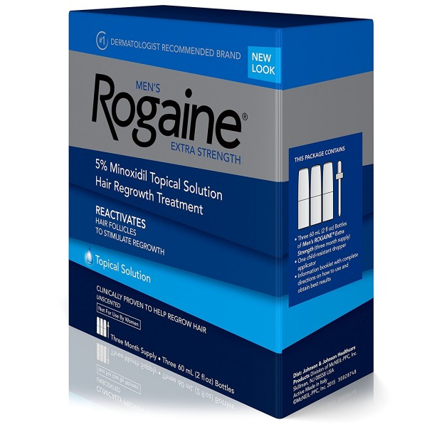ROGAINE MENS EXTRA STRENGTH SOLUTION 2 Oz. (Pack of 3)3